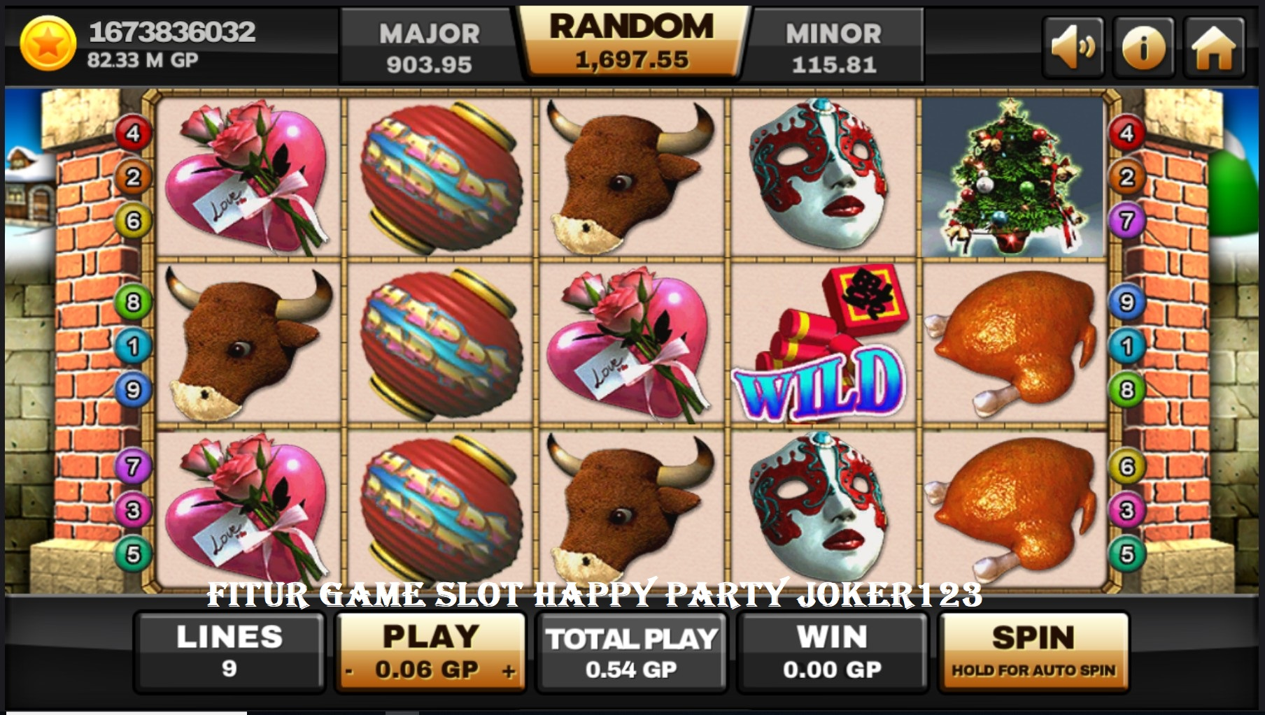 Fitur Game Slot Happy Party Joker123